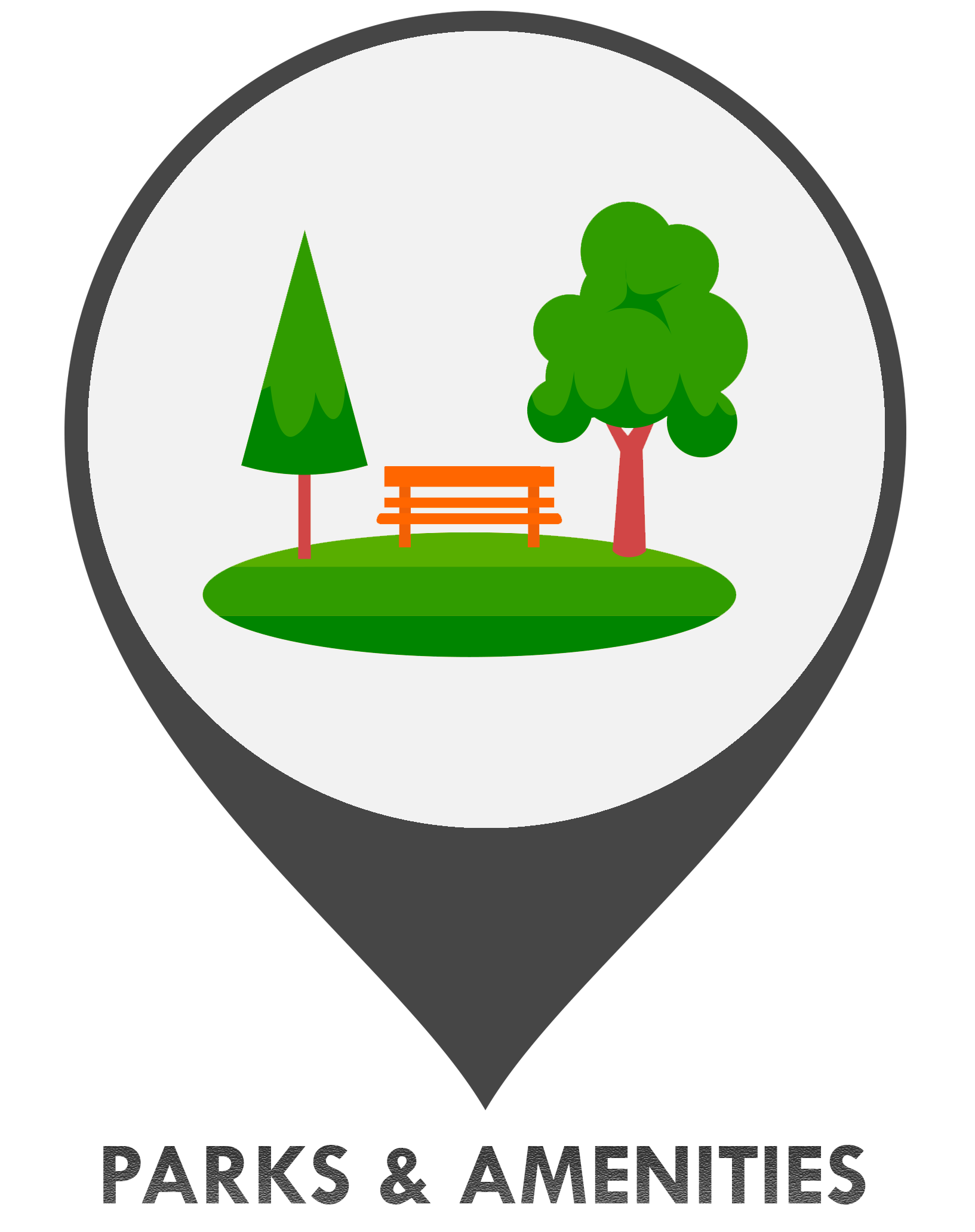 Parks and Amenities GIS Icon